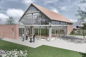 Visualisierung der Süd-West Ansicht des Hauses